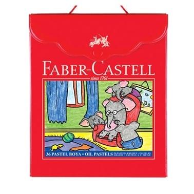 Faber Castell Faber Castell 125137 11.5 Mm Uç Ağzı 74 Mm Uzunluk Plastik Çanta Ambalajlı Pastel Boya Renkli